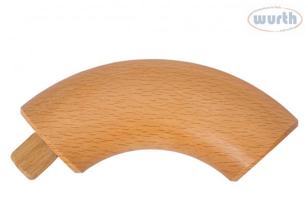 Endbogen 90° - Buche gedämpft - diverse Durchmesser, für Holzhandlauf rund