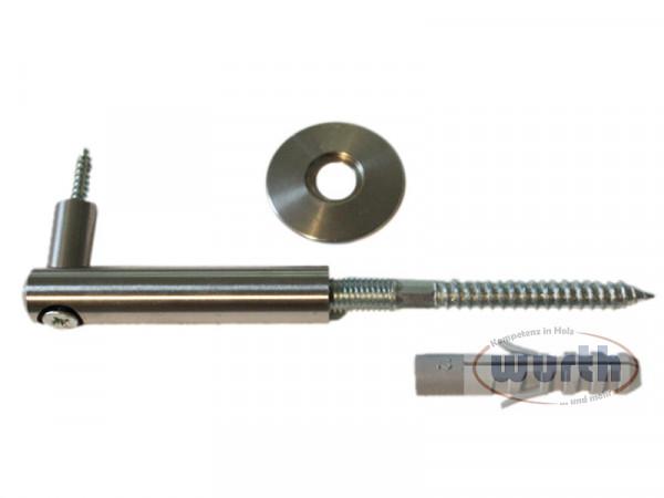 Design-Handlaufhalter 05 Edelstahl, für Holzhandläufe
